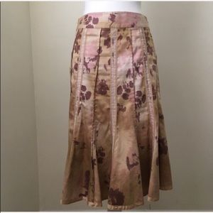 Anthropologie Odille Watercolor Skirt 2